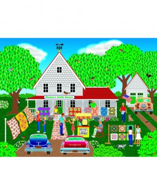 Puzzle Sunsout - Mark Frost: Mama's Quilt House, 1.000 piese (22605)