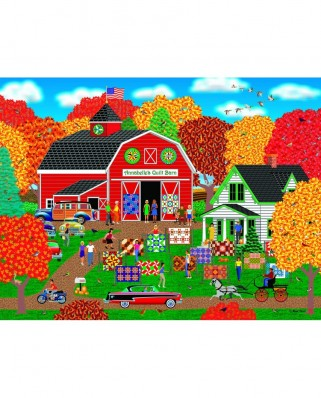 Puzzle Sunsout - Mark Frost: Annabelle's Quilt Barn, 1.000 piese (22613)