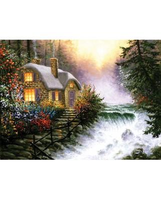 Puzzle Sunsout - Derk Hansen: River's Edge, 1.000 piese (26140)