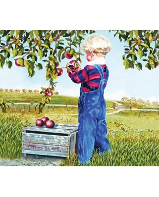 Puzzle Sunsout - Patricia Bourque : Apple Picking, 550 piese (26282)