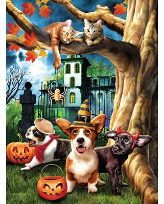 Puzzle Sunsout - Tom Wood: Halloween Hijinks, 1.000 piese (28713)
