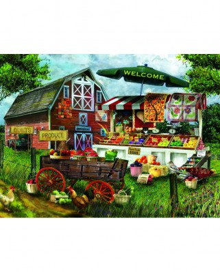 Puzzle Sunsout - Tom Wood: Fresh Country Produce, 1.000 piese (28773)