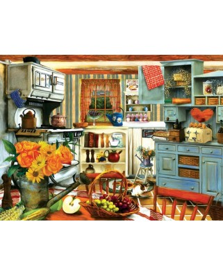Puzzle Sunsout - Tom Wood: Grandma's Country Kitchen, 1.000 piese (28851)