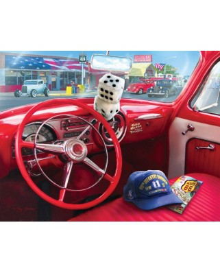 Puzzle Sunsout - Greg Giordano: American Car, 1.000 piese XXL (37133)
