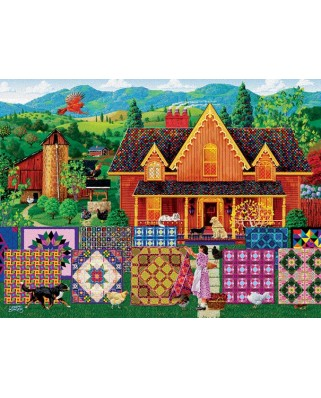 Puzzle Sunsout - Joseph Burgess : Morning Day Quilt, 1.000 piese (38844)