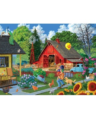 Puzzle Sunsout - Joseph Burgess : Home from the Fair, 1.000 piese (38919)