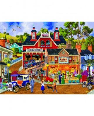 Puzzle Sunsout - Joseph Burgess : Jerrigan Bros General Store, 1.000 piese XXL (38971)