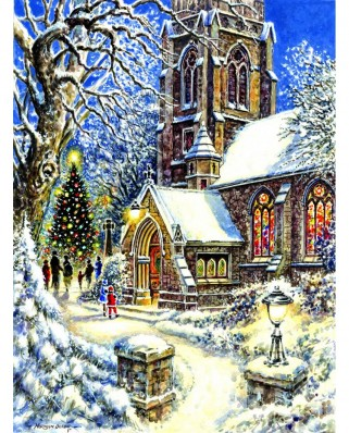 Puzzle Sunsout - Church in the Snow, 1.000 piese (44131)