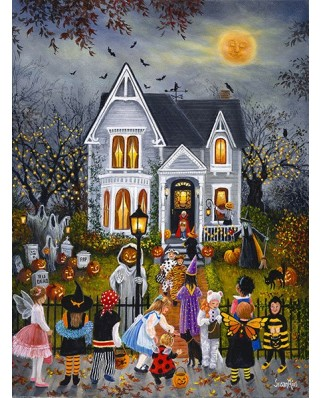 Puzzle Sunsout - Susan Rios : Scary Night, 1.000 piese (45430)