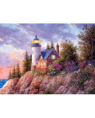 Puzzle Sunsout - Dennis Lewan: Beacon to the Sea, 1.000 piese (48396)