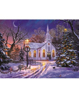 Puzzle Sunsout - Dominic Davison: The Old Christmas Church, 1.000 piese (50041)