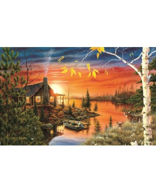Puzzle Sunsout - Mark Daehlin : Autumn Evening, 550 piese (51847)