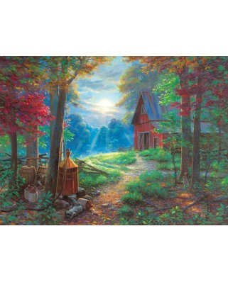 Puzzle Sunsout - Mark Keathley : Nighttime Antics, 1.000 piese (53050)
