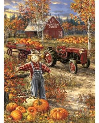 Puzzle Sunsout - Dona Gelsinger: The Pumpkin Patch Farm, 1.000 piese (57144)