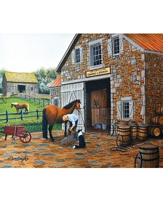Puzzle Sunsout - Don Engler: Coppery and Stables, 1.000 piese (60319)