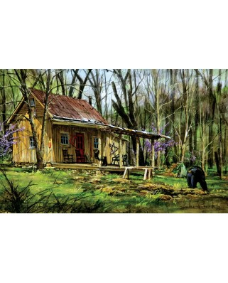 Puzzle Sunsout - Luke Buck : Mark's Cabin, 550 piese (60739)