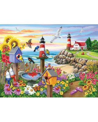 Puzzle Sunsout - Nancy Wernersbach : Garden by the Sea, 1.000 piese (62930)