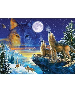 Puzzle Sunsout - Adrian Chesterman: Howling Wolves, 1000 piese (71739)