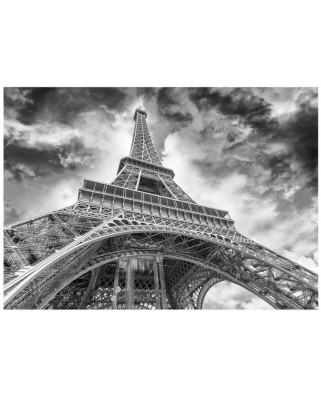 Puzzle Dino - Eiffel Tower, 1.000 piese alb-negru (62952)