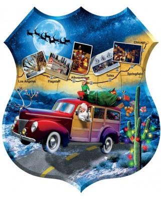 Puzzle contur Sunsout - Jim Todd : Santa's Highway, 1.000 piese XXL (95808)