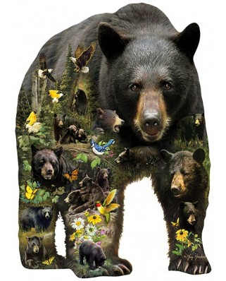 Puzzle contur Sunsout - Greg Giordano: Forest Bear, 1000 piese XXL (96033)