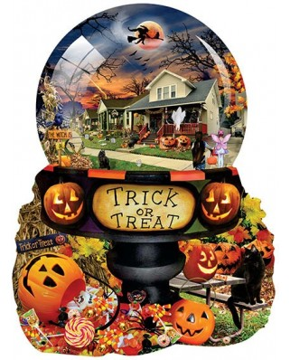 Puzzle contur Sunsout - Lori Schory : Halloween Globe, 1.000 piese XXL (96064)