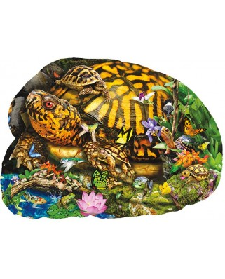 Puzzle contur Sunsout - Lori Schory : Tortoise Crossing, 1.000 piese XXL (97285)