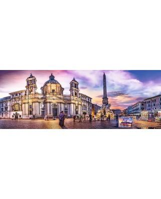 Puzzle panoramic Trefl - Piazza Navona, Rome, 500 piese (29501)