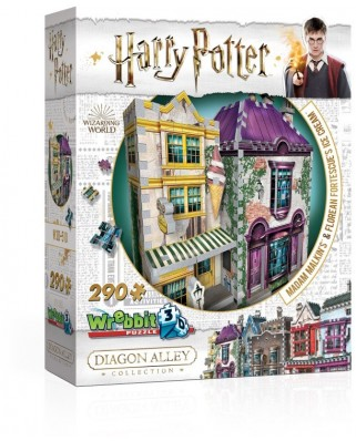 Puzzle 3D Wrebbit - Harry Potter - Madam Malkin's & Florean Fortescue's Ice Cream, 290 piese (3D-0510)