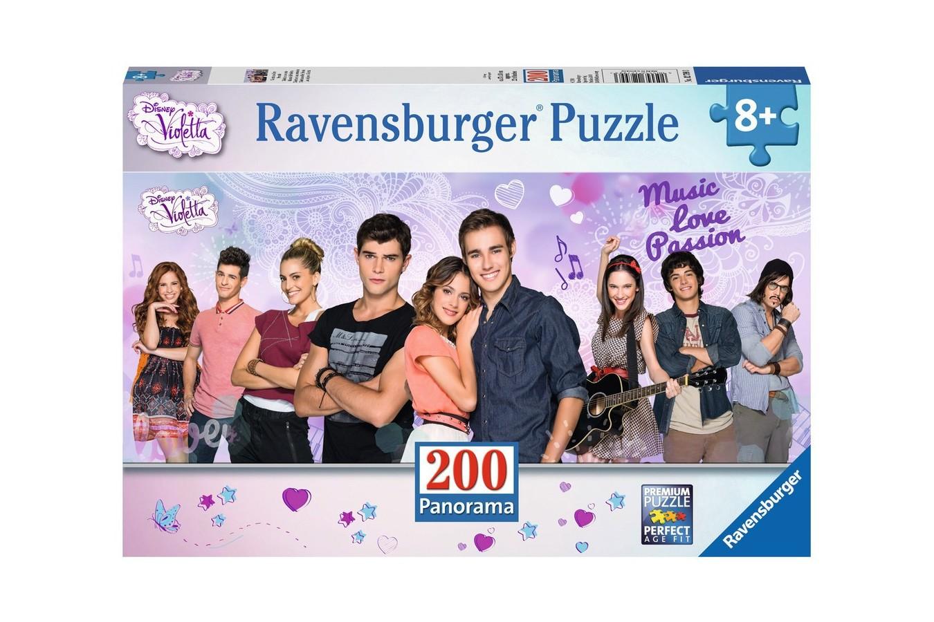 Puzzle panoramic Ravensburger - Violetta Si Prietenii, 200 piese (12799)