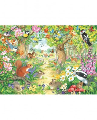 Puzzle Jumbo - A Woodland Trail, 1.000 piese (11155)