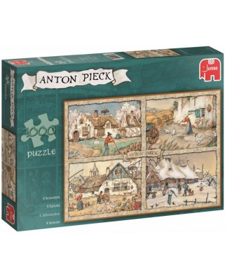Puzzle Jumbo - Anton Pieck: 4 Seasons, 1.000 piese (17093)