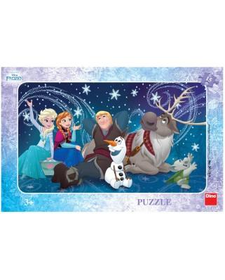 Puzzle Dino - Frozen, 15 piese (62849)