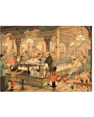 Puzzle Jumbo - Anton Pieck: The Grocer, 1.000 piese (17091)