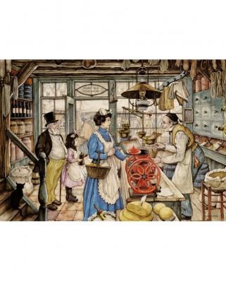 Puzzle Jumbo - Anton Pieck: The Grocer, 500 piese XXL (18599)