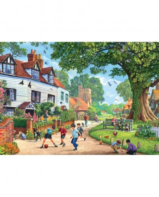Puzzle Jumbo - Around Britain - Brenchley Village, Kent, 1.000 piese (11144)