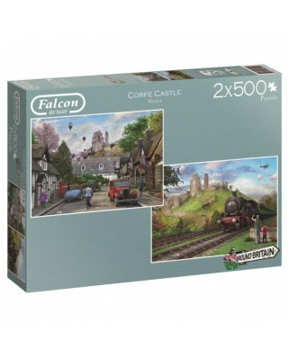 Puzzle Jumbo - Around Britain - Corfe Castle, 2x500 piese (11152)