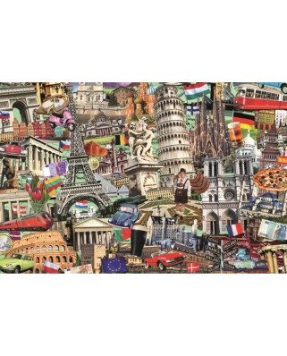 Puzzle Jumbo - Best off European Cities, 1500 piese (18355)