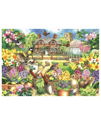 Puzzle Jumbo - Claire Comerford: Spring Garden, 1.000 piese (11106)