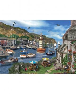 Puzzle Jumbo - Dominic Davison: Summertime Harbour, 1.000 piese (11052)