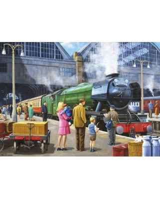 Puzzle Jumbo - Flying Scotsman at Kings Cross, 1.000 piese (11160)