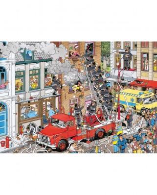 Puzzle Jumbo - Jan Van Haasteren: Alert to fire, 500 piese (17279)