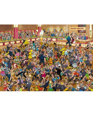 Puzzle Jumbo - Jan Van Haasteren: Ballroom Dancing, 1.000 piese (01617)