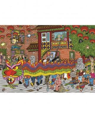 Puzzle Jumbo - Jan Van Haasteren: Chinese New Year, 500 piese (19031)