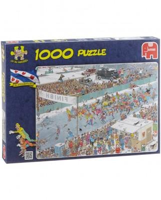 Puzzle Jumbo - Jan Van Haasteren: Ice Racing, 1.000 piese (17310)