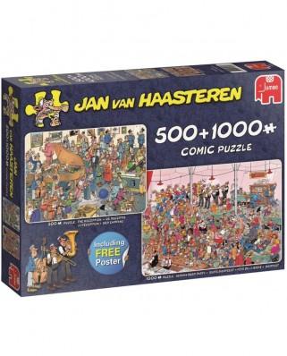 Puzzle Jumbo - Jan Van Haasteren: Jan Van Haasteren, 500/1.000 piese (19058)