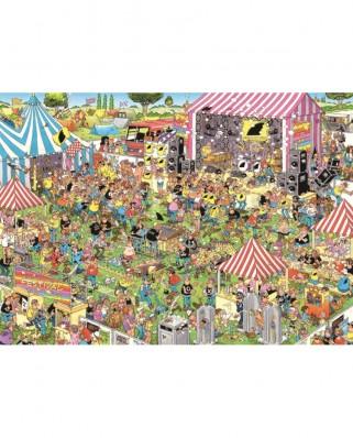 Puzzle Jumbo - Jan Van Haasteren: Pop Festival, 1.000 piese (19028)