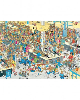 Puzzle Jumbo - Jan Van Haasteren: Queued Up !, 1.000 piese (17466)