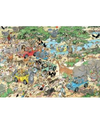 Puzzle Jumbo - Jan Van Haasteren: Safari & Storm, 2x1000 piese (19001)
