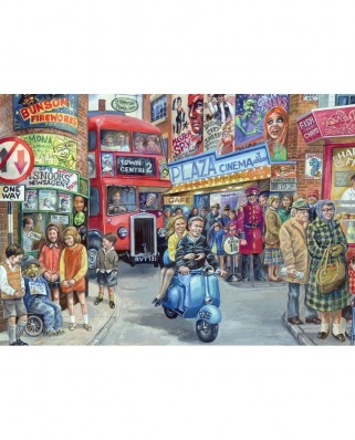 Puzzle Jumbo - Jim Mitchell: Life in the City, 1.000 piese (11090)